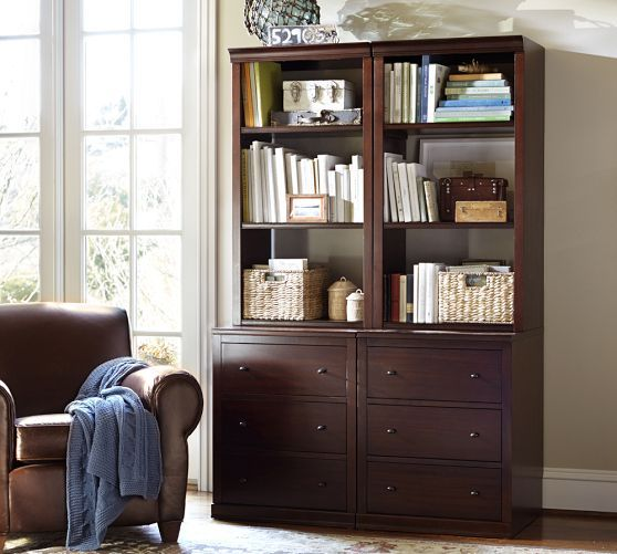 Logan Modular Bookcase with Drawers | Pottery Barn