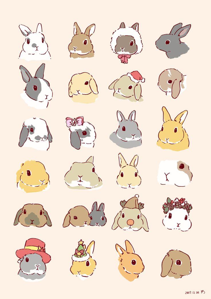 корейские рисунки животных легко и красиво