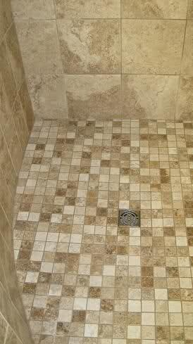 Florida Curb-less Walk In Waterproofed Tile Shower