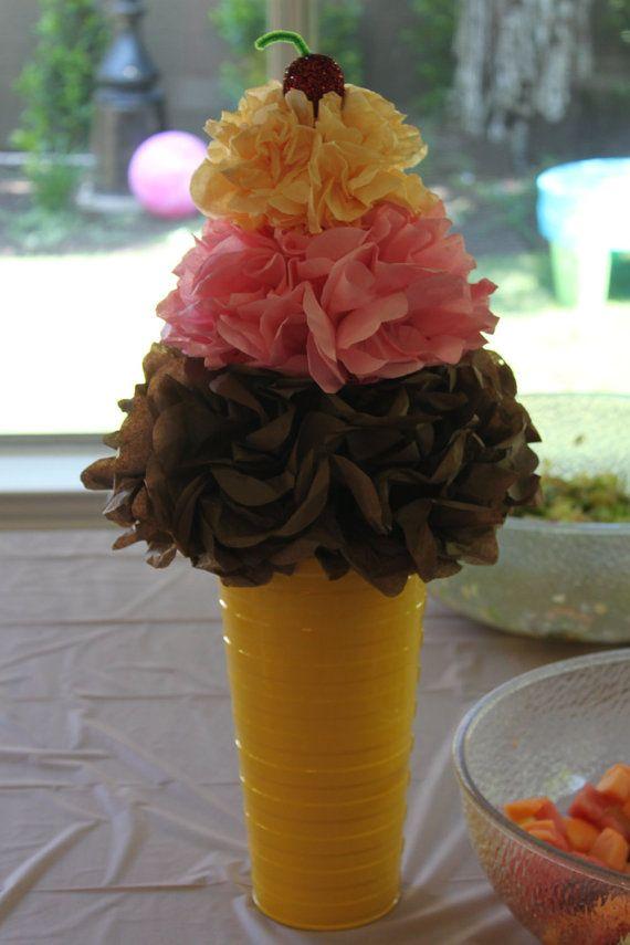 ice cream cone centerpiece