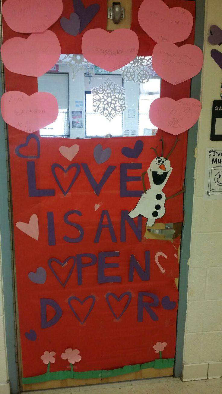 Door decoration #frozen #classroom #olaf #kids