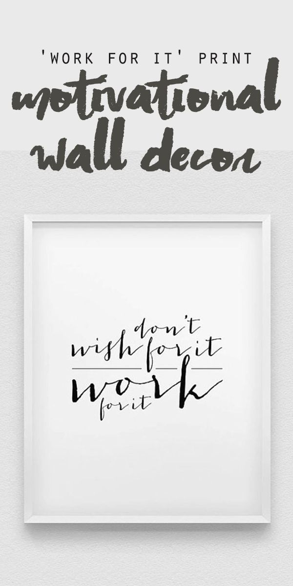 this Motivational decor wall art is ideal for decorating your living room or office.   inspirational quote   encourage quote #Ad