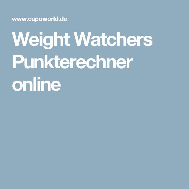 Weight Watchers Punkterechner online