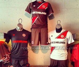 O simpático FC St. Pauli mostra seus uniformes - http://www.colecaodecamisas.com/o-simpatico-fc-st-pauli-mostra-seus-uniformes/