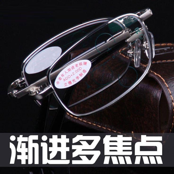 = CLARA VIDA = Intelligence Progressive Multifocal Folding Reading Glasses Bifocal See Near Far Ultra Light +1 +1.5 +2 TO +4
