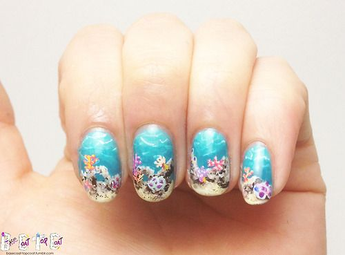 Under the Sea Nails #nails #nailart