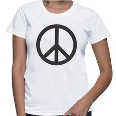 Peace T-Shirt - This classic fit women's tee is ideal for most body types. The black and white colour combination and the softness of the fabric makes this tee a perfect companion through any day.