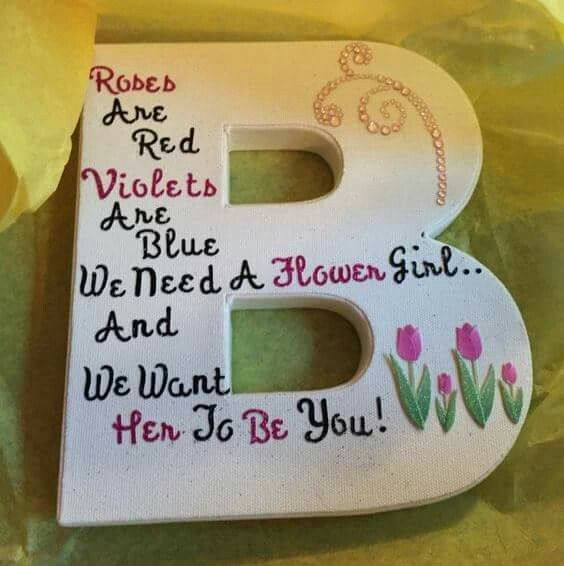 Check out this DIY idea ... How cute is this for asking your Flower Girl to be a part of your big day? Love it!