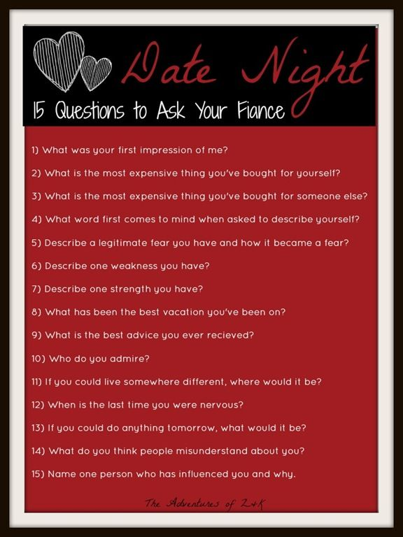 Questions to ask a guy when first dating