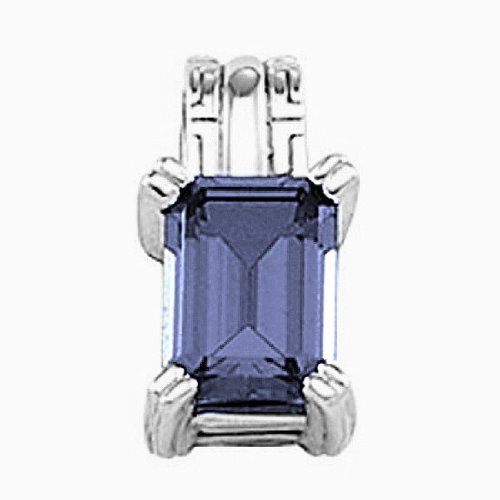 Platinum Emerald Cut Tanzanite Pendant Gems-is-Me. $2440.52. FREE PRIORITY SHIPPING. This item will be gift wrapped in a beautiful gift bag. In addition, a 'gift message' can be added.