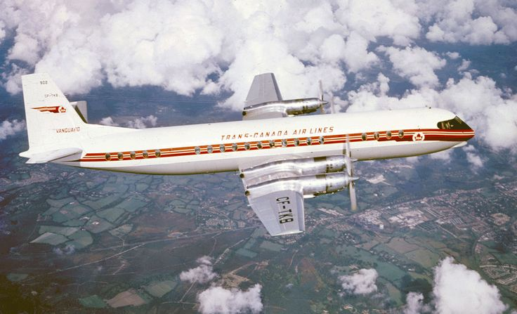 Trans-Canada Airlines Vickers Viscount -- first airplane I ever flew in, 1959, Regina to Winnipeg
