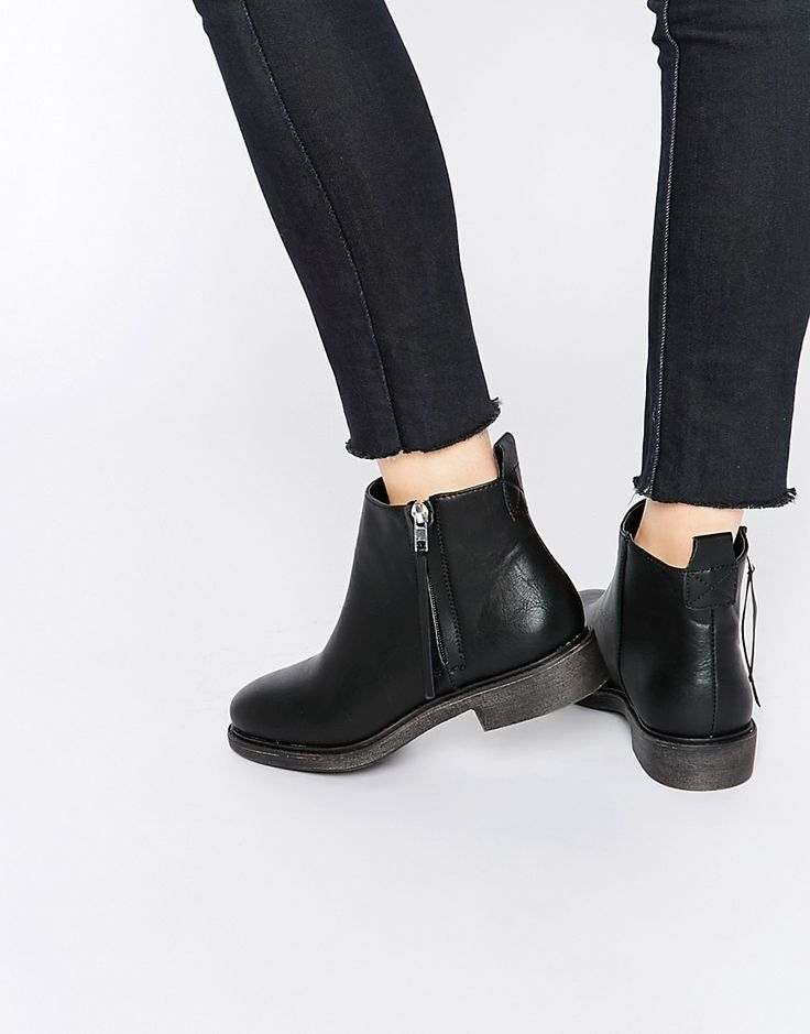 Image 1 of New Look Zip Side Flat Ankle Boot