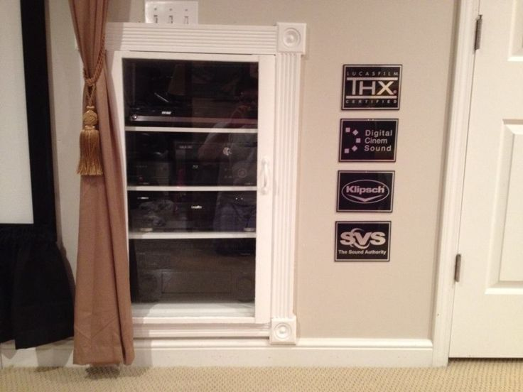 Built In Audio Rack In Eric Vanderburg S Home Theater