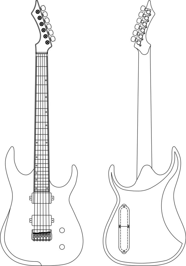 1000 images about on pinterest music note for Strat neck template