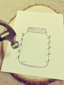 DIY: Mason Jar String Art ( I have been eyeing up doing this craft for awhile. So excited to finally share it! )
