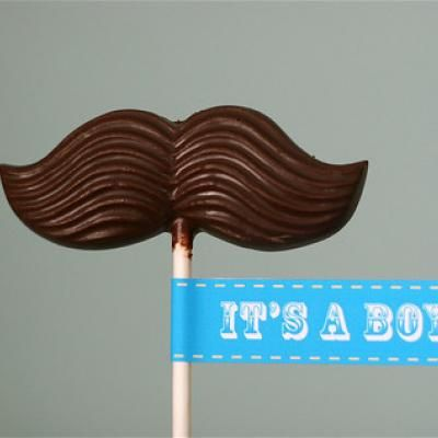 Boy Baby Shower Party Favors - if she has a boy. Bonus, I already have these mustache molds.