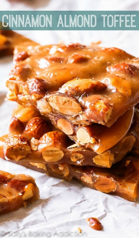 Cinnamon Almond Toffee Recipe - a step-by-step visual guide to making ...