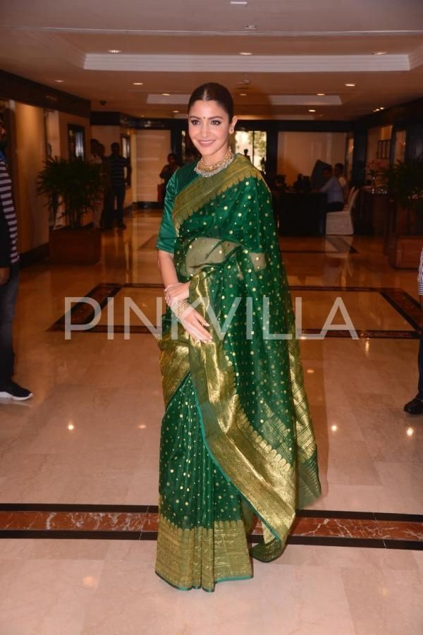 d9ebdff0c Photos  Anushka Sharma looks drop-dead gorgeous in a green saree for an  award function