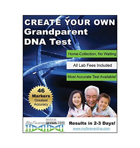 *Home GRANDPARENT DNA TEST* MOST Advanced & Accurate DNA Test Available- 46 DNA MARKERS Tested  ALL LAB COSTS INCLUDED for 1 Grandparent & 1 Child (additional individuals can be tested for an additional fee)  46 MARKER TEST - GREATEST ACCURACY! We offer a 46 marker paternity test, that's the highest in the industry!  Accurate to over 99.999% - 46 markers are the most statistically accurate DNA test for grandparents, exclusions are independently tested twice to ensure accuracy  Accredit...