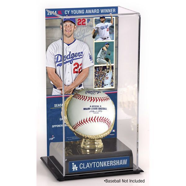 Clayton Kershaw Los Angeles Dodgers Fanatics Authentic 2014 National League Cy Young Award Gold Glove with Image Display Case - $49.99