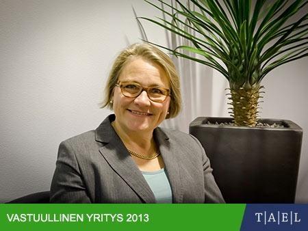 Kestäviä tuotteita ihmisten tarpeisiin, Taloussanomat/Tael: Vastuullinen yritys 2013