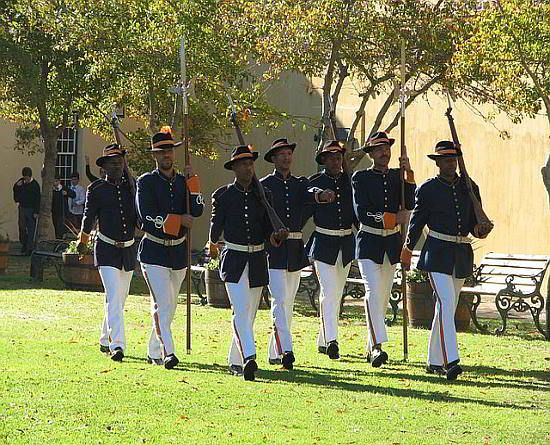 Key ceremony in the Castle of Good Hope, Cape Town. Pan your visit so that you can watch the key ceremony.