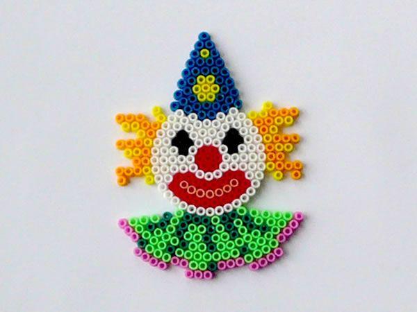 Clown perler beads