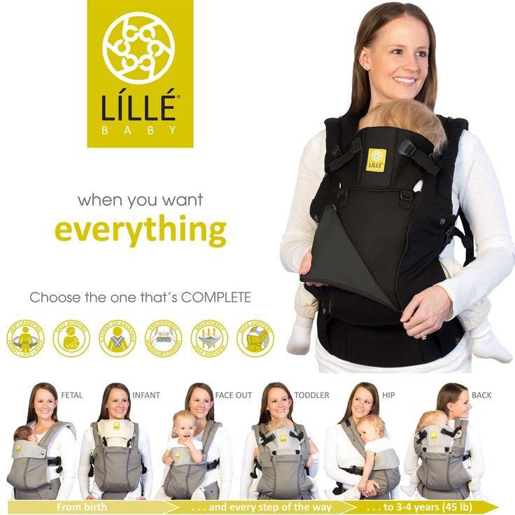 LILLEbaby COMPLETE All Seasons - Most Versatile Carrier | best baby carrier, ergonomic, organic, stylish | LÍLLÉbaby