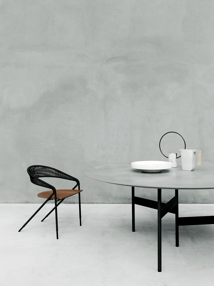 George's armchair design David Lopez Quincoces and Notes table design Massimo Mariani