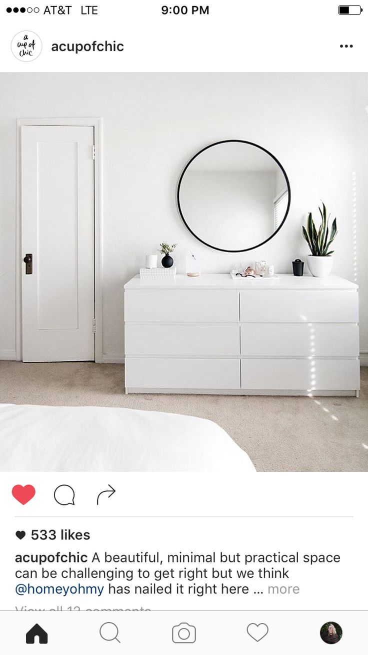 White x white bedroom #minimalism | Pinterest @ℐαℓεεⓢα
