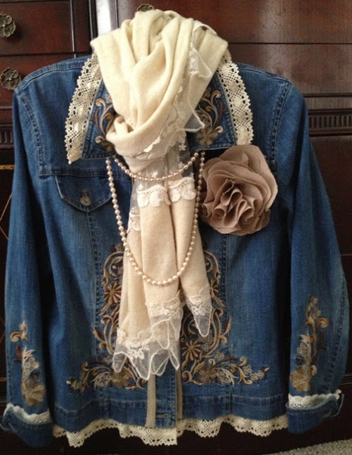 Sharlottes Reflections: Vintage Jacket -- embellished jacket