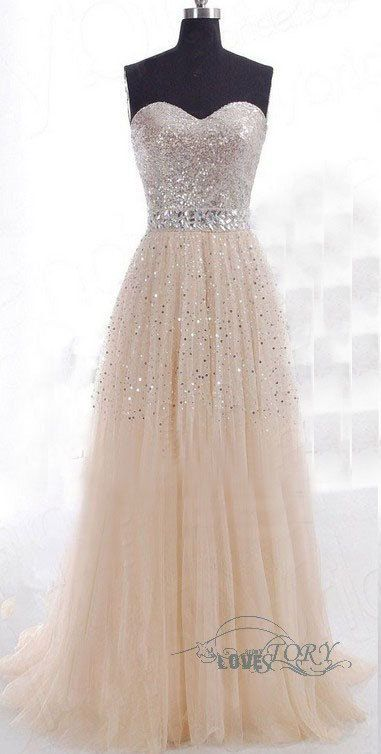 Shiny Tulle Party Dress, A-Line Party Dress, Beads Online, Cheap Prom Dress,Prom Dress Long, Long Prom Dress, Womens Dresses on Etsy, $194.29 CAD.   Jaglady