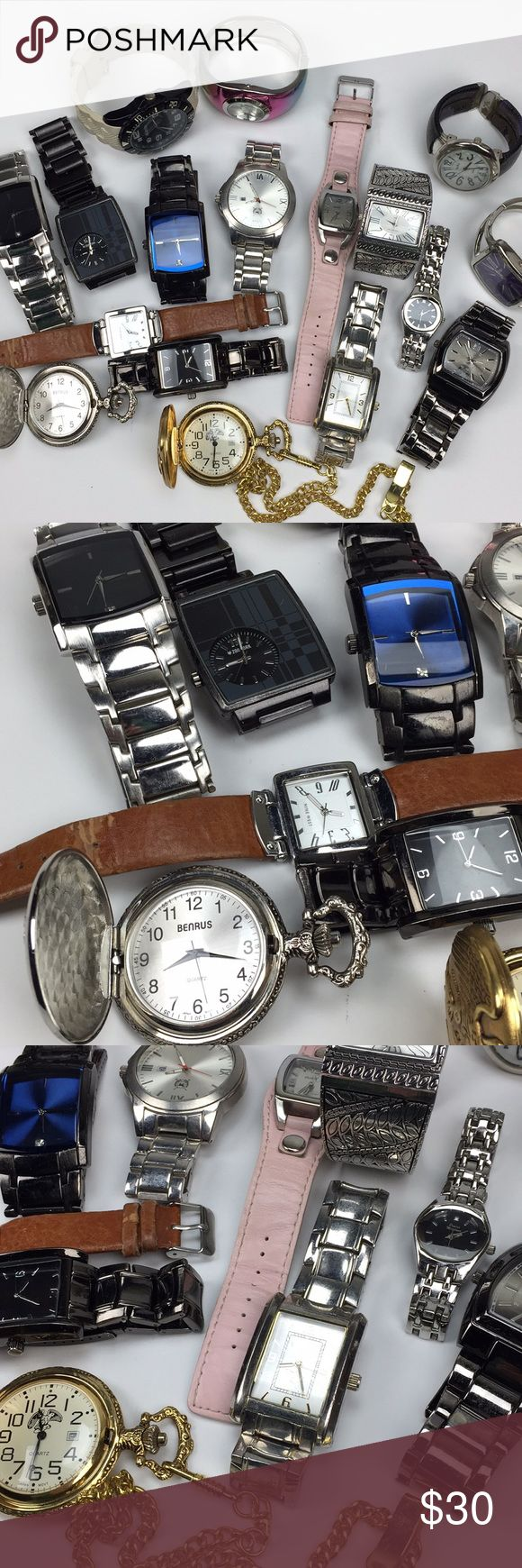 Fashion/Costume Watch Lot - 17 items! Misc watch lot. ALL NEED BATTERIES 3 of the watches have broken bands that need repair. Great for crafts or repair and wear. These are fashion/costume watches Various brands... Zoo York, Nine West, Unlisted, Benrus, Bongo, Allude, Studio Y... some have no brand.  You get everything shown. Ready to ship. Various Other
