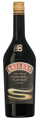 Baileys Caramel 18,19  De whiskey in Baileys bewaart de verse Ierse room op natuurlijke wijze. Samen met cacao en vanille als finishing touch creëren ze een smaaksensatie om van te genieten. Deze variatie heeft een vleugje caramel. Serveeradvies: Baileys Caramel kan puur gedronken of on the rocks. Baileys Caramel is ook heerlijk om te mixen met koffie of over een bolletje ijs.