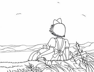 It's just a picture of Influential Kiki's Delivery Service Coloring Pages