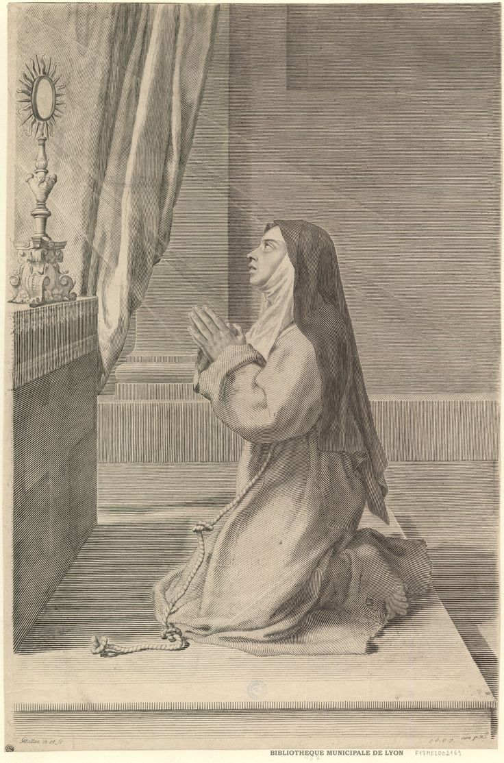 Claude Mellan - Saint Claire antes do sacramento