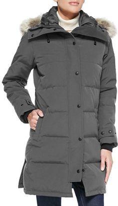 Shop Now - >  https://api.shopstyle.com/action/apiVisitRetailer?id=523284203&pid=uid6996-25233114-59 Canada Goose Shelburne Parka with Fur Hood  ...