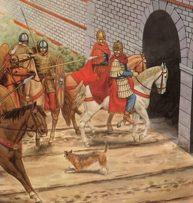 Римский император Констант I вьезжает в Лондиний. 343 год н.э.
