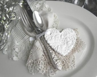 Baptism or Shower Favors Valentine's Day Napkin Rings Personalized Imprinted Heart Salt Dough Ornaments Set of 10
