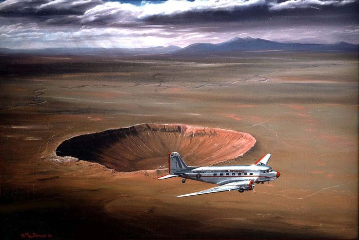 Great Meteor Crater near Winslow, Arizona