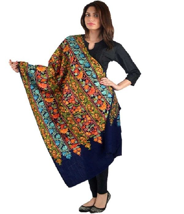 #Look #fabulous with this #warm woolen shawl.  #Shop at http://bit.ly/1rARGW0