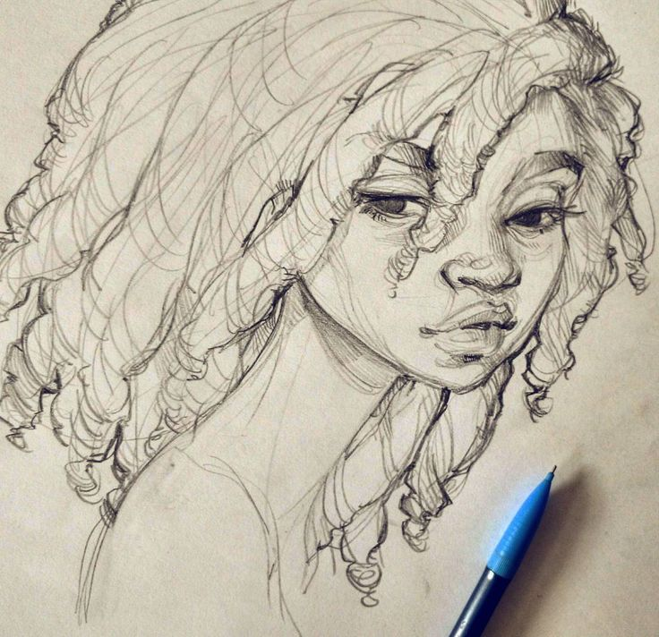 how to draw a person with dreads