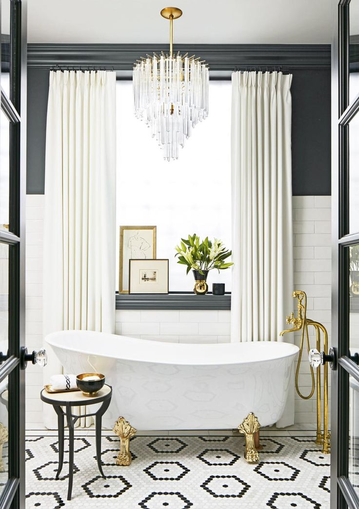 1000 Ideas About Black White Bathrooms On Pinterest