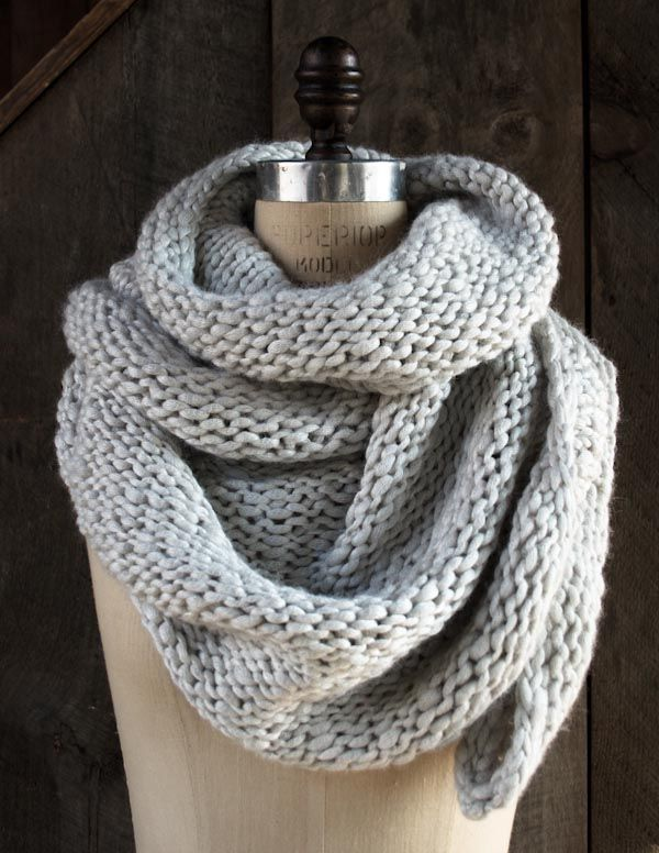 Knitted Moonstone Wrap - reminds me of the cowl Katniss wore in the opening scene in Hunger Games Catching Fire