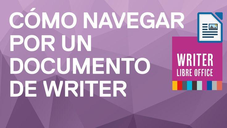 Cómo navegar por nuestro documento en Writer. El navegador de Writer