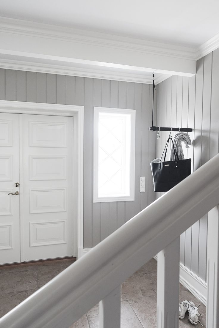 gray white modern farmhouse entry