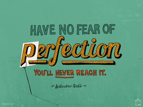 "September 2010: Freshen up your desktop with a great new Designer Desktops wallpaper by talented artist and designer Brooke Francesi. This month's inspirational quote is from famous surrealist Salvador Dali: ""Have no fear of perfection. You'll never reach it."" Amen to that."