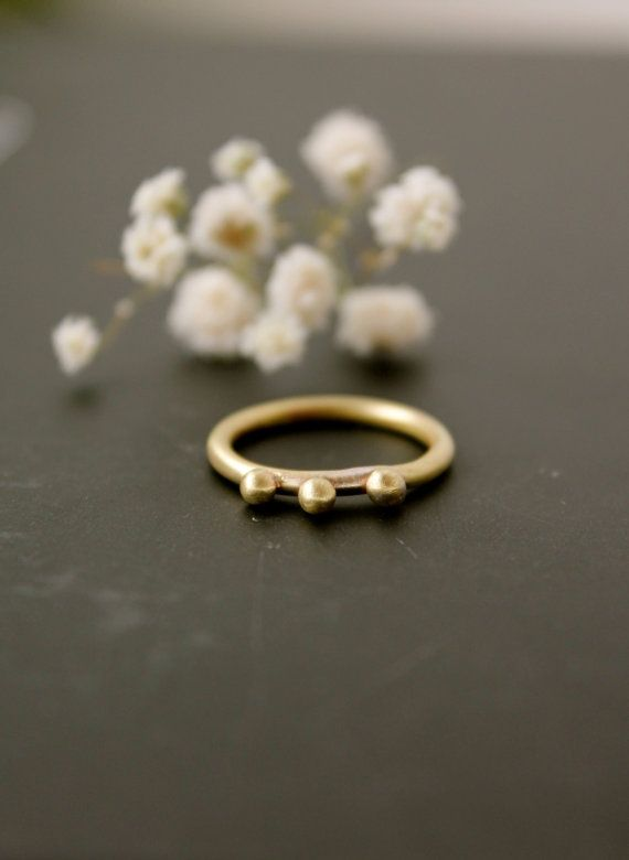 Greek Queen Ring Round Bronze Sterling Silver Gift for Her Stackable Thin Minimal Engagement Ring