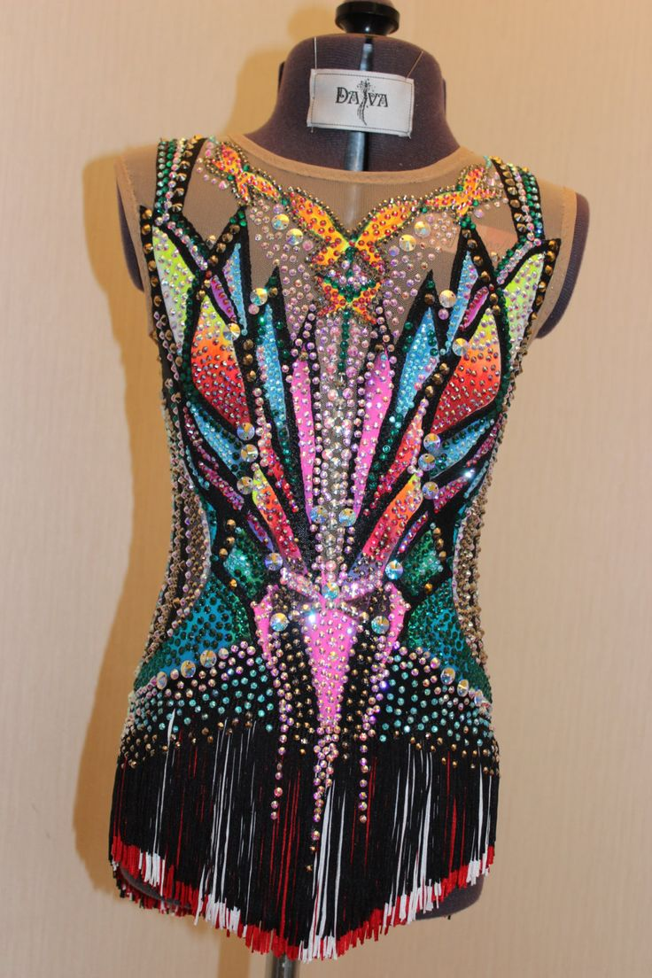This leotard was made to order and sold - shown as the example of what we do. Contact us to order custom made leotard for you