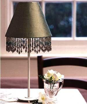 111 best beaded lamp shade images on pinterest lampshades lamp how to cover a lampshade transform a basic white lampshade with an oddment of fabric aloadofball Choice Image